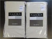 (2) NAYHA TEXTILES ONE VALANCE CREAM SIZE 80 X 38