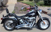 2005 Harley Davidson, 15th Anniv Ed, Sequential Port Inj Fat Boy, 4100 mi, always kept inside, exc cond, runs/sounds great (view 1)