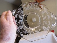 """Ornate Etched 8"""" Plate"""