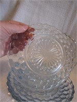 5 Anchor Hocking Bubble Glass Plates