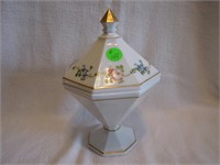 """Fenton? Covered Candy 8&1/4"""""""