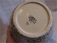"Blue Sponge Crock Bowl 9&1/2""x5&3/8"""