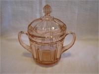 """Vintage Pink Depression Glass Spooner 6&3/4"""""""