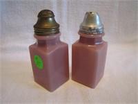 Antique Salt & Pepper Shakers (lids not original,