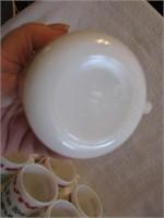 13 Vtg Hazel Atlas Jingle Bell Egg Nog Cups