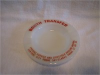 Ashtray:  Booth Transfer Central City & Clarks
