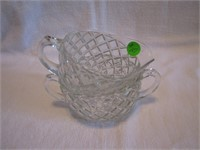 Wexford Depression Glass Cream & Sugar
