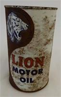 RARE LION MOTOR OIL IMP. QT. CAN
