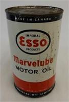 IMPERIAL ESSO MARVELUBE MOTOR OIL IMP. QT. CAN