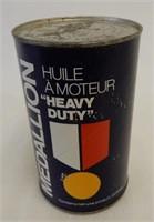 MEDALLION HEAVY DUTY MOTOR OIL QT. FIBRE CAN