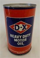 D-X HEAVY DUTY MOTOR OIL IMP. QT. OIL CAN