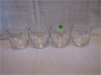 4 Vintage Roly Poly Opalescent Drink Glasses