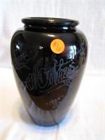 "1934 ""From Mother"" Vase Black Amethyst 9&1/4"""