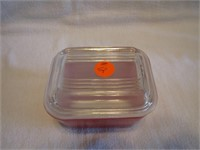 Red Pyrex Individual Refrigerator or Casserole