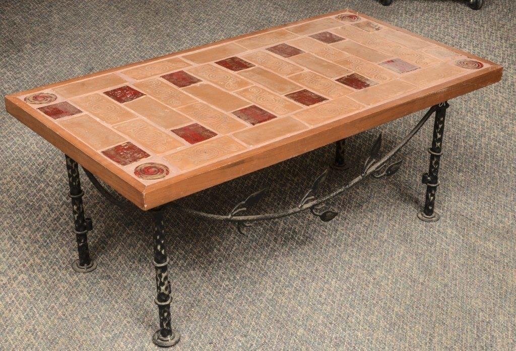 Tile Top And Metal Based Coffee Table