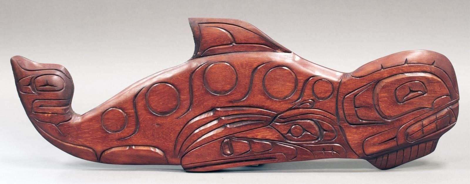 Northwest coast u201ckiller whaleu201d cedar relief hodgins art auctions