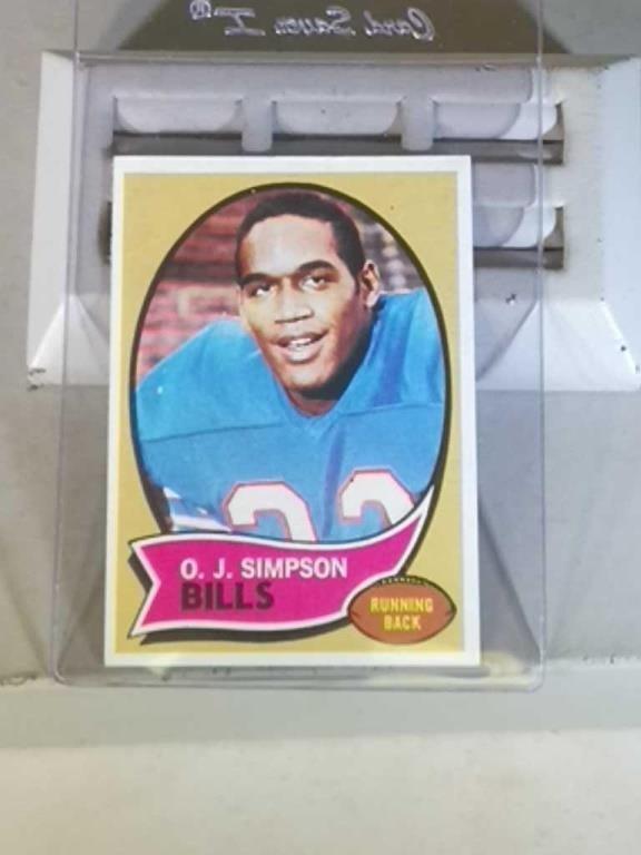 1970 Topps Oj Simpson Rookie Card Wisconsin Estate