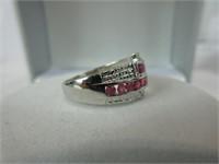.88CTTW RUBY & DIAMOND RING