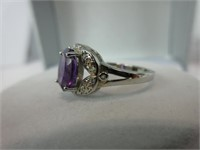 1.60CTTW AMETHYST & DIAMOND RING