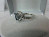 1.20CTTW MYSTIC TOPAZ & DIAMOND RING