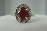 10K GOLD 1.52 CTTW RUBY & DIAMOND RING
