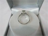 1CTTW GREEN AMETHYST & DIAMOND RING