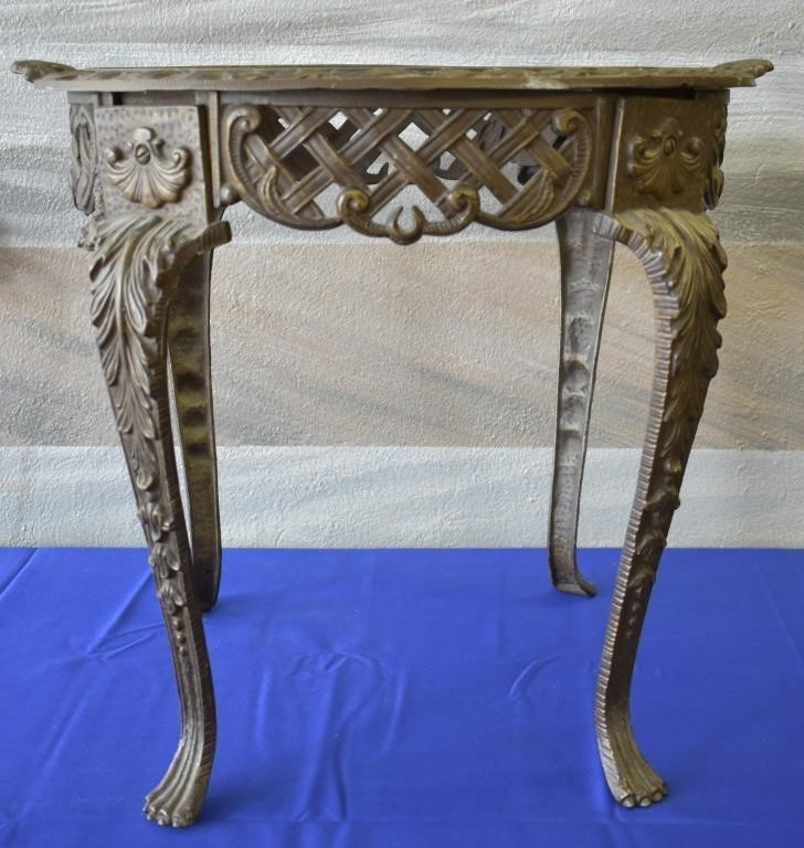 Fabulous Antique Cast Metal Claw Foot Side Table Jds Auctions Theyellowbook Wood Chair Design Ideas Theyellowbookinfo