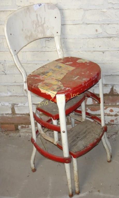 Superb Vintage Cosco Step Stool Chair 2Nd Cents Inc Creativecarmelina Interior Chair Design Creativecarmelinacom