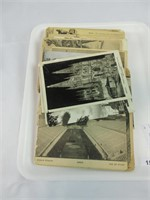 TRAY: QTY VINTAGE B&W EUROPE/ASIA POST CARDS