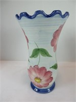 TRAY: 3 FLORAL VASES
