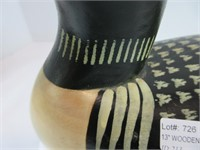 """13"""" WOODEN CARVED LOON DECOY"""