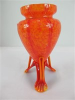 """6"""" FOOTED ART GLASS VASE"""