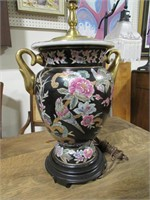 """26"""" TALL FLORAL TABLE LAMP"""