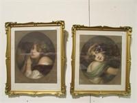 PAIR: J. B. GREUZE PORTRAIT & ENGRAVINGS