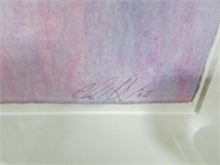 ILLEGIBLY SIGNED ABSTRACT WATER COLOUR