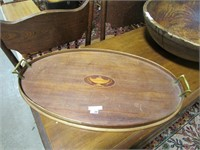 """24"""" OVAL WOODEN SERVING TRAY"""