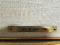 """HENRI MASSON, """"OCTOBER MONT BLEU"""", OIL ON BOARD"""