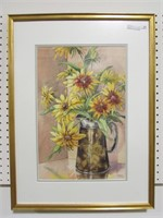 WALTY UNTITLED STILL LIFE WATER COLOUR
