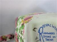 3 PC. ROYAL WINTON CREAM & SUGAR, DIVIDED DISH