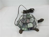 """STAINED GLASS TURTLE LAMP 8"""" LONG"""