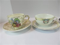 TRAY: 8 CUPS & SAUCERS