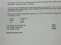 14-18K GOLD BIRKS CLUSTER RING