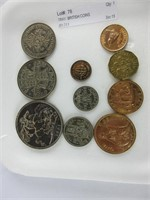 TRAY: BRITISH COINS