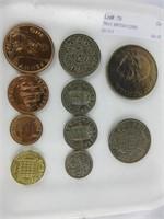 TRAY: BRITISH COINS