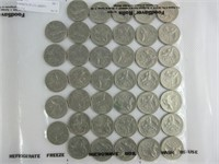 9 SHEETS OF U.S. LIBERTY QUARTERS