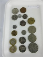 TRAY: SOUTH AMERICAN COINS