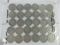 SHEET: 30 CANADIAN POST 1967 50 CENT PIECES