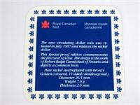 TRAY: THREE 1987 CANADIAN CASED DOLLARS