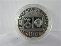 1984 SARAJEVO OLYMPIC GAMES SILVER COIN