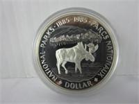 1985 CANADIAN SILVER DOLLAR COIN